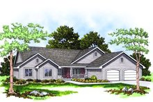 House Design - Traditional Exterior - Front Elevation Plan #70-208