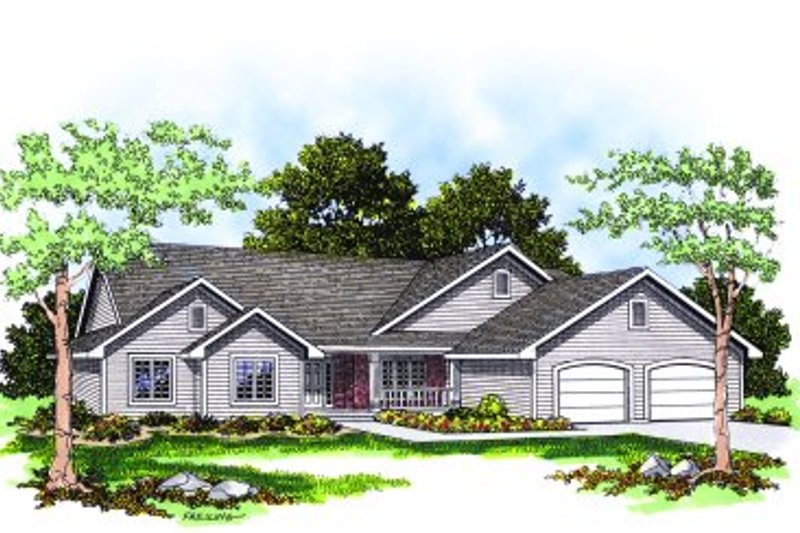 Traditional Exterior - Front Elevation Plan #70-208 - Houseplans.com