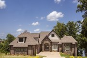 Tudor Style House Plan - 4 Beds 4.5 Baths 3983 Sq/Ft Plan #929-947 Exterior - Front Elevation