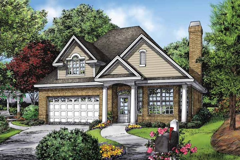 Ranch Exterior - Front Elevation Plan #929-866