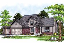 Traditional Exterior - Front Elevation Plan #70-1308