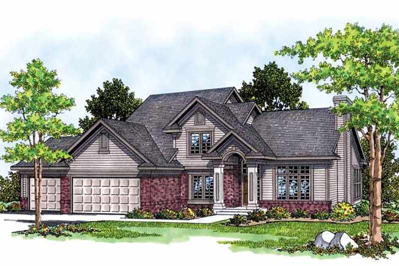 Dream House Plan - Traditional Exterior - Front Elevation Plan #70-1308