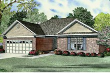 Ranch Exterior - Front Elevation Plan #17-3124