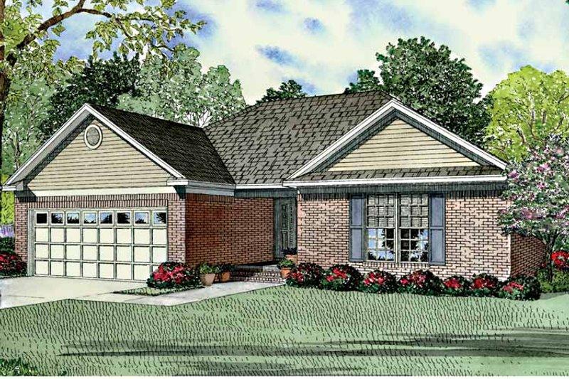 Ranch Exterior - Front Elevation Plan #17-3124 - Houseplans.com