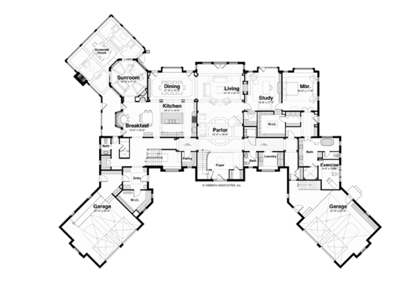 Classical Floor Plan - Main Floor Plan Plan #928-256