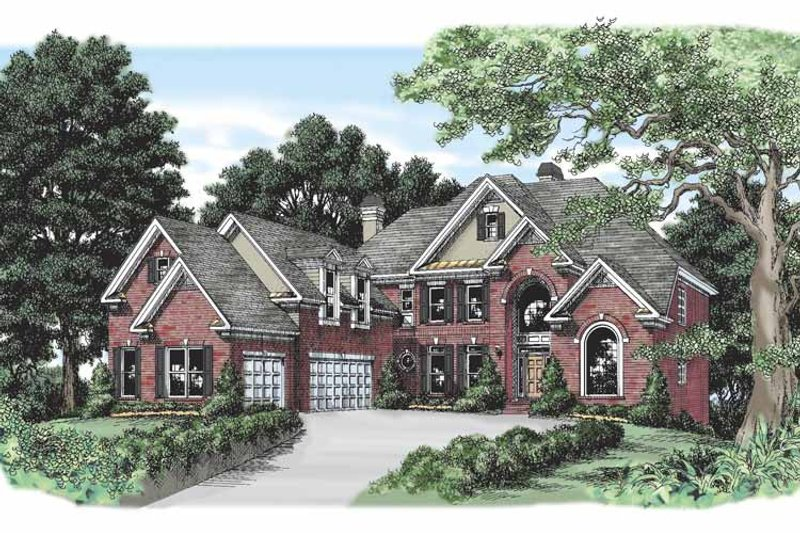 Traditional Exterior - Front Elevation Plan #927-455 - Houseplans.com
