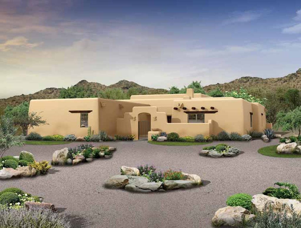 southwestern style house plans adobe southwestern style house plan 3 beds 2 5 baths 2276 sq ft plan 72 1024 8894