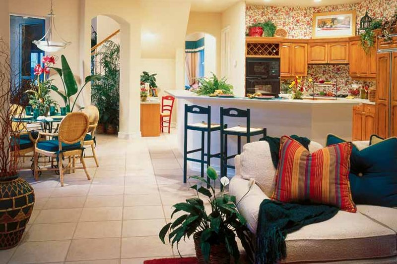 Mediterranean Interior - Kitchen Plan #930-50 - Houseplans.com