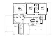 Craftsman Floor Plan - Upper Floor Plan Plan #20-2366