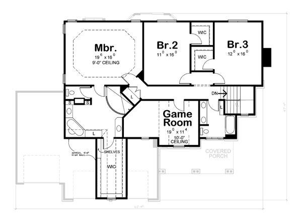 House Plan Design - Craftsman Floor Plan - Upper Floor Plan #20-2366