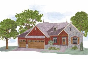 Country Exterior - Front Elevation Plan #950-4