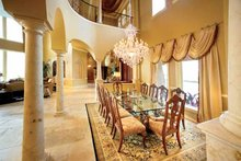 House Plan Design - Mediterranean Interior - Dining Room Plan #1017-14