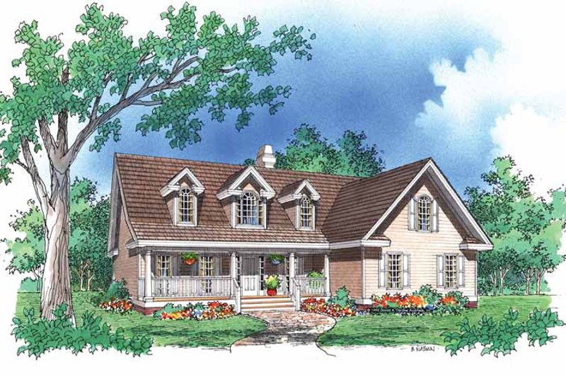 Country Exterior - Front Elevation Plan #929-488 - Houseplans.com