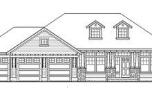Craftsman Exterior - Front Elevation Plan #132-341