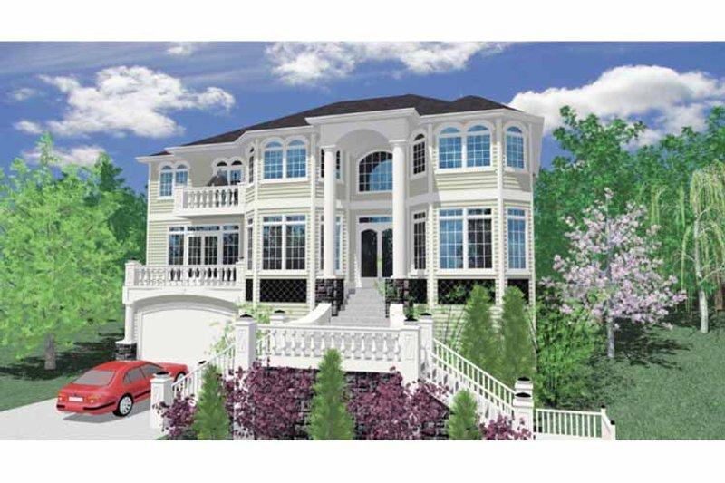 Contemporary Exterior - Front Elevation Plan #509-390 - Houseplans.com