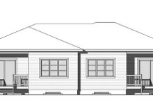 House Plan Design - Contemporary Exterior - Rear Elevation Plan #23-2720