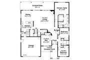 Craftsman Style House Plan - 3 Beds 2.5 Baths 2319 Sq/Ft Plan #124-867 Floor Plan - Main Floor Plan