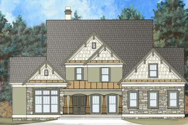 Craftsman Exterior - Front Elevation Plan #119-333