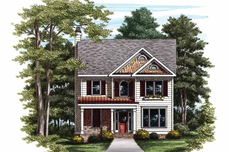 Country Exterior - Front Elevation Plan #927-728 - Houseplans.com