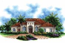 Home Plan - Mediterranean Exterior - Front Elevation Plan #1017-142