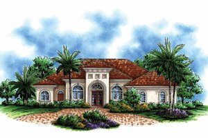 House Plan Design - Mediterranean Exterior - Front Elevation Plan #1017-142