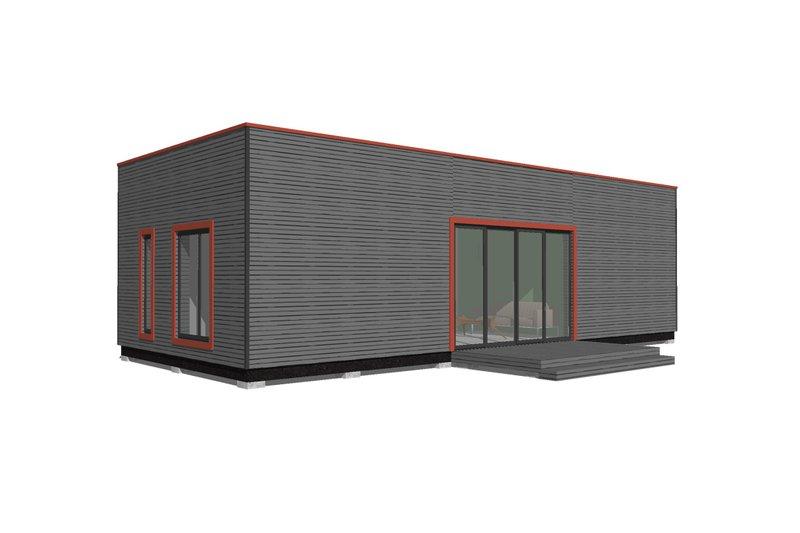 Modern Style House Plan - 2 Beds 2 Baths 530 Sq/Ft Plan #549-29