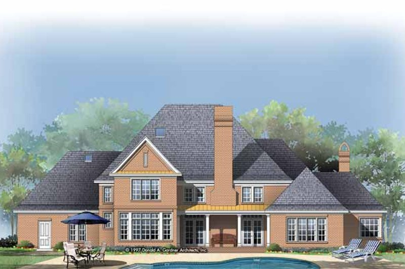 Traditional Exterior - Rear Elevation Plan #929-284 - Houseplans.com