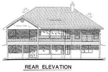 Home Plan Design - Ranch Exterior - Rear Elevation Plan #18-1024