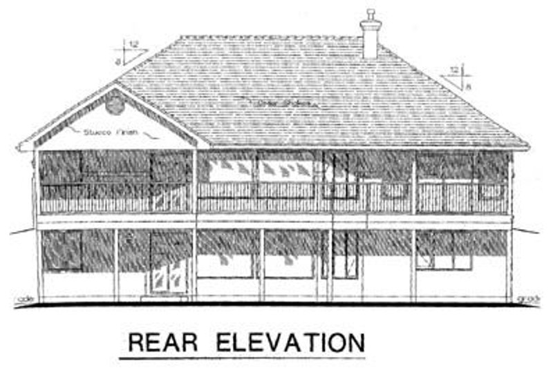 Ranch Exterior - Rear Elevation Plan #18-1024 - Houseplans.com
