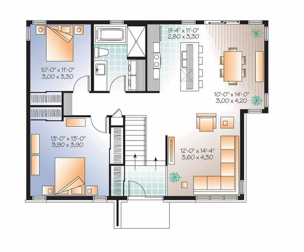 Contemporary Floor Plan - Main Floor Plan Plan #23-2523