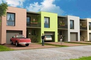 Modern Exterior - Front Elevation Plan #538-1