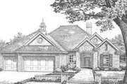 Traditional Style House Plan - 4 Beds 3.5 Baths 2359 Sq/Ft Plan #310-364 Exterior - Front Elevation