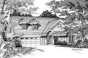 European Style House Plan - 3 Beds 3 Baths 1721 Sq/Ft Plan #329-214 Exterior - Front Elevation