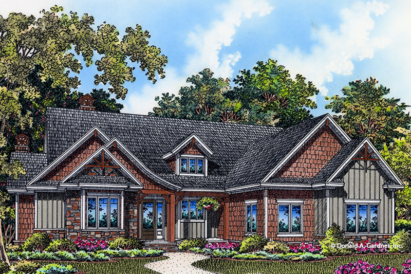 Craftsman Exterior - Front Elevation Plan #929-998 - Houseplans.com