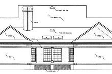Traditional Exterior - Rear Elevation Plan #45-139