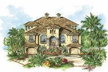 Mediterranean Exterior - Front Elevation Plan #1017-94