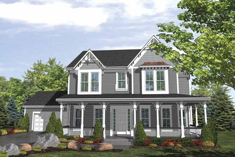 Traditional Exterior - Front Elevation Plan #320-989 - Houseplans.com