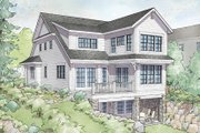 Traditional Style House Plan - 3 Beds 3 Baths 2611 Sq/Ft Plan #928-286 Exterior - Rear Elevation