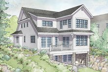 House Plan Design - Traditional Exterior - Rear Elevation Plan #928-286
