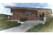 Modern Style House Plan - 2 Beds 2 Baths 2970 Sq/Ft Plan #498-5 Exterior - Front Elevation