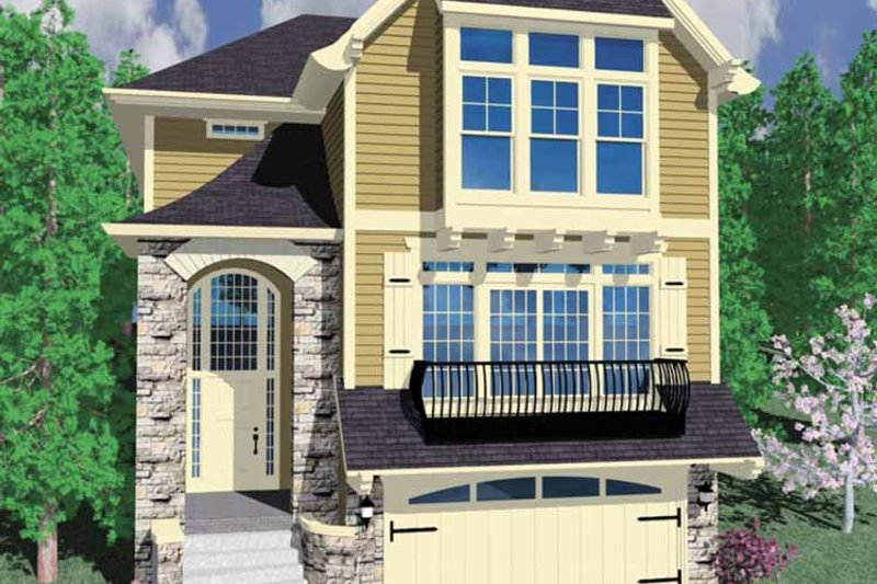 Country Exterior - Front Elevation Plan #509-330