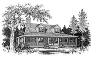 Country Style House Plan - 3 Beds 2 Baths 1428 Sq/Ft Plan #22-221 Photo