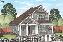 Country Exterior - Front Elevation Plan #513-2165