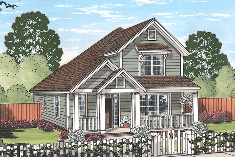 Architectural House Design - Country Exterior - Front Elevation Plan #513-2165
