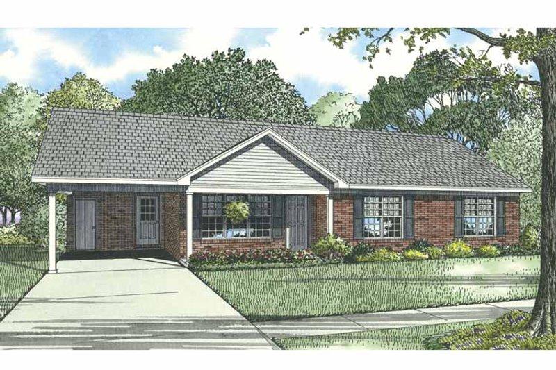 Ranch Exterior - Front Elevation Plan #17-3297 - Houseplans.com