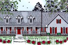 Country Exterior - Front Elevation Plan #42-669