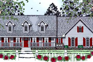 Dream House Plan - Country Exterior - Front Elevation Plan #42-669