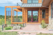 Architectural House Design - Prairie Exterior - Front Elevation Plan #1042-17