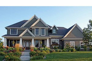 Architectural House Design - Country Exterior - Front Elevation Plan #51-1119