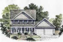 House Plan Design - Classical Exterior - Front Elevation Plan #316-130